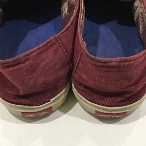 Vans Shoes - Vans Canvas Maroon Color Low Skate Shoes Men's 9.5